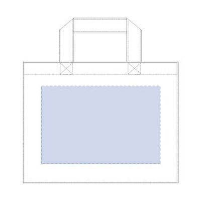 デニムカレッジトート(M)ワイド:ウォッシュブルーの商品画像3枚目