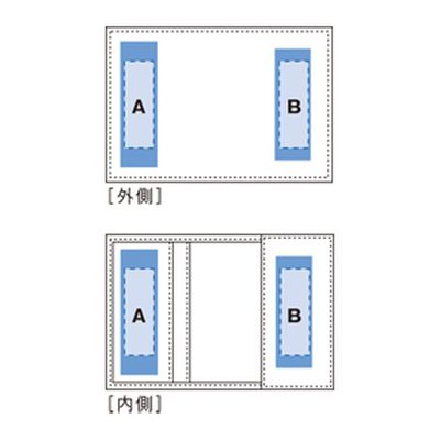 レザーワイドカードケース:リアルブラックの商品画像3枚目