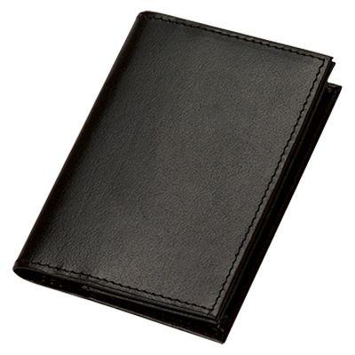 レザーワイドカードケース:リアルブラック