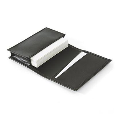 レザーワイドカードケース:リアルブラックの商品画像2枚目