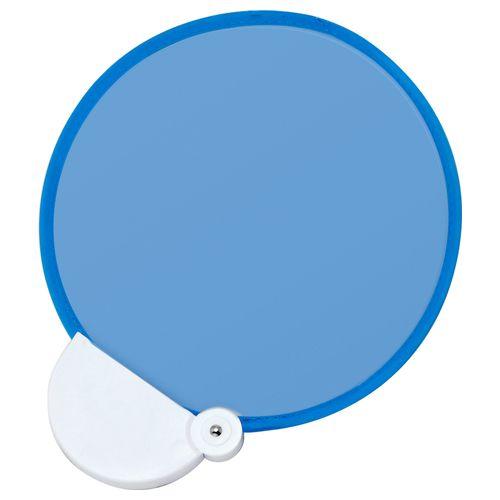 フォールディングファン カラーズ(ブルー×ブルー) :折りたたみうちわ