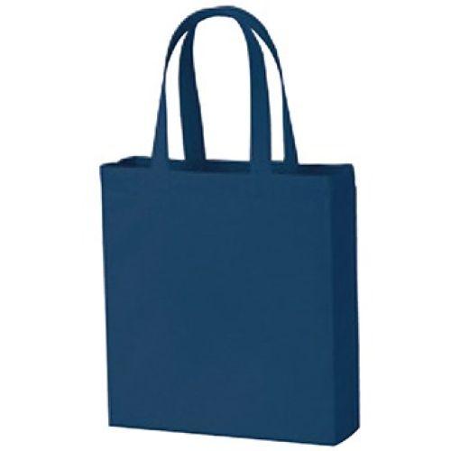 ライトキャンバスバッグ横マチ付:ネイビー