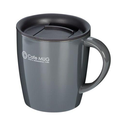 陶器調真空断熱マグカップ(330ml)(黒)