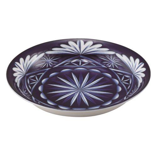 切子写し藍陶器・盛付皿1P