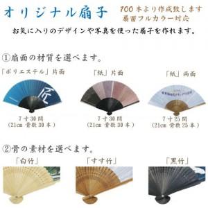 オリジナル紙扇子(片面貼り)21cm 30間|A76-OG-012