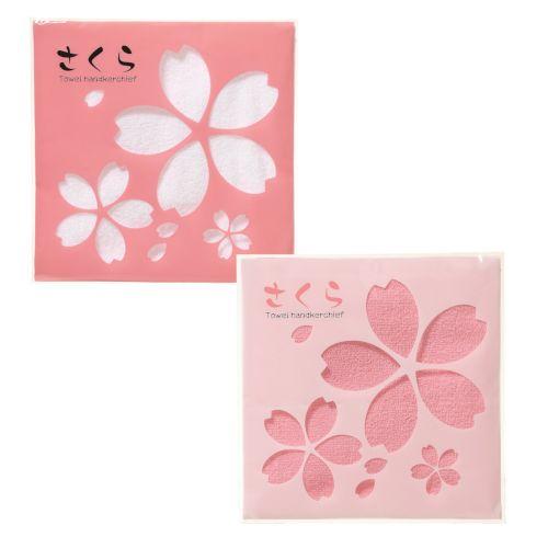 さくらタオルハンカチ:21A0233 【お花見・さくら・桜の季節】
