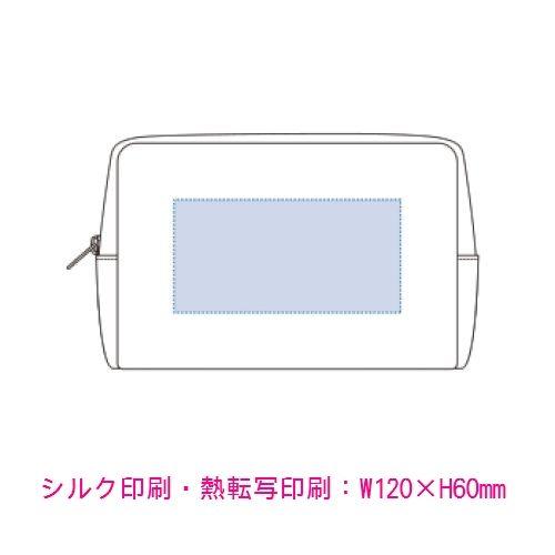 キャンバスファスナーポーチ(M):ナイトブラックの商品画像2枚目
