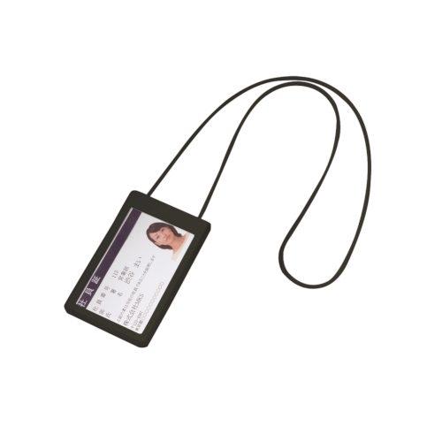 ダブルポケットIDカードホルダー:ブラック※