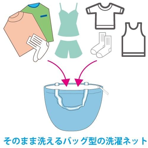 【洗濯ネット】丸ごと洗える洗濯バッグ ※在庫特価品の商品画像5枚目
