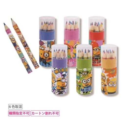 ミニミニキャラクター 円筒ケース入り12色いろえんぴつ1組