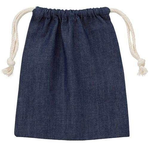 デニム巾着(S):インディゴ