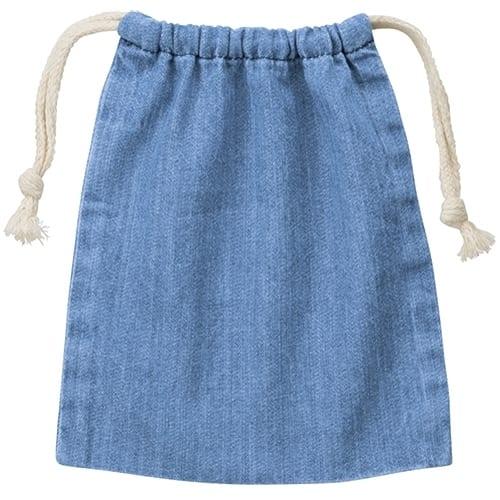 デニム巾着(S):ヴィンテージブルー