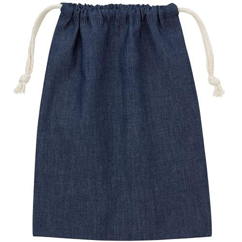 デニム巾着(M):インディゴ