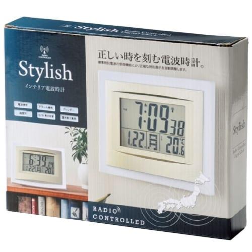 スタイリッシュ インテリア電波時計の商品画像4枚目