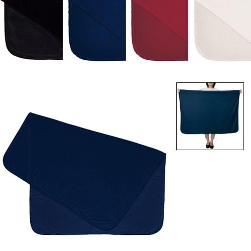 スムースフリースブランケット(L):レッドの商品画像2枚目