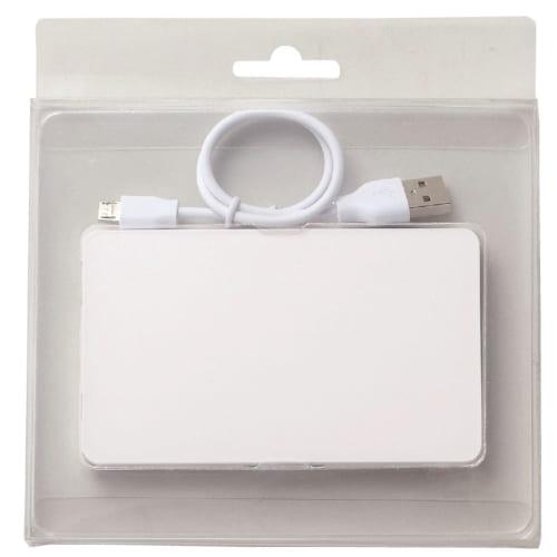 モバイルバッテリー4000(フラット)(ホワイト)の商品画像3枚目