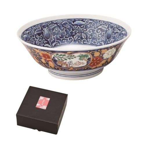 金彩牡丹ラーメン鉢(唐草)