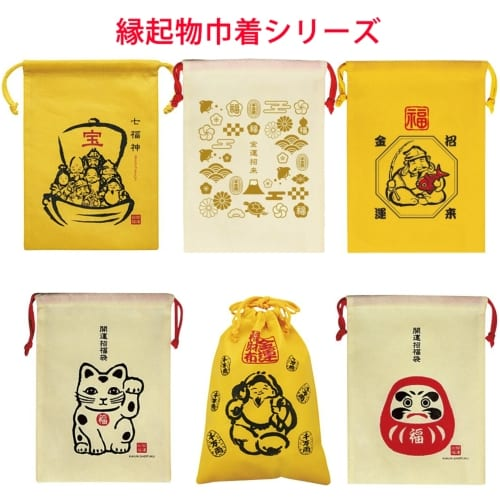 縁起物巾着1個(招き猫)◆の商品画像2枚目