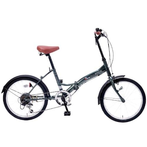 折畳自転車20インチ6段ギア セージグリーンの商品画像2枚目