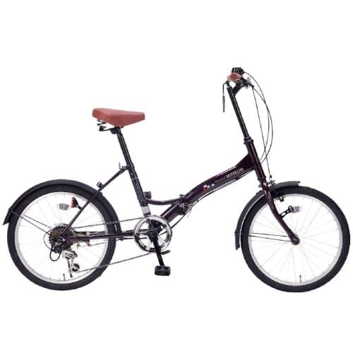 折畳自転車20インチ6段ギア ディープパープルの商品画像2枚目