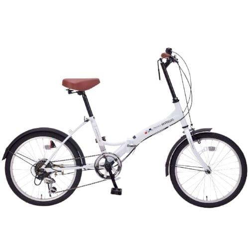折畳自転車20インチ6段ギア シルキーホワイトの商品画像2枚目