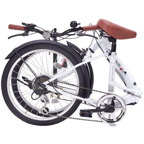 折畳自転車20インチ6段ギア シルキーホワイトの商品画像3枚目