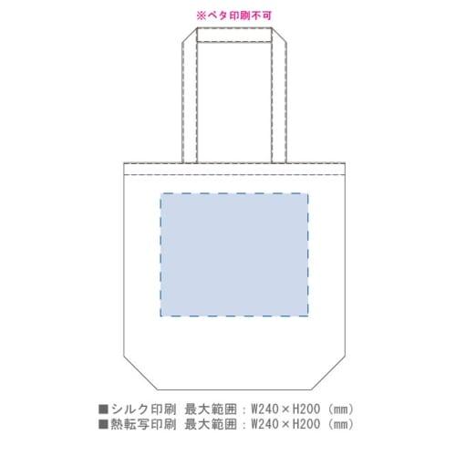 シャンブリックマチ付トート(M):ブルーの商品画像3枚目