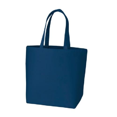 キャンバストート(L) インナーポケット付:ミッドナイトブルー