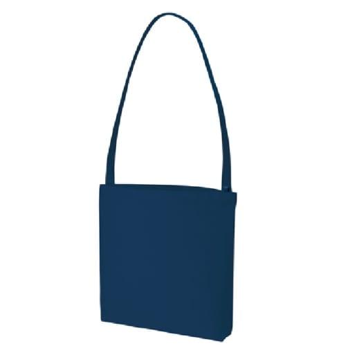 キャンバスショルダートート インナーポケット付:ミッドナイトブルー