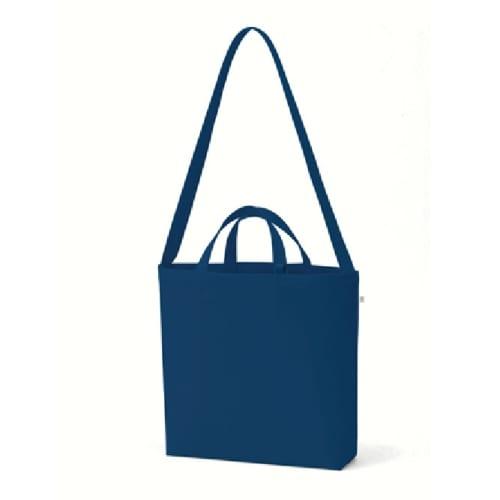 キャンバスWスタイルバッグ インナーポケット付:ミッドナイトブルー