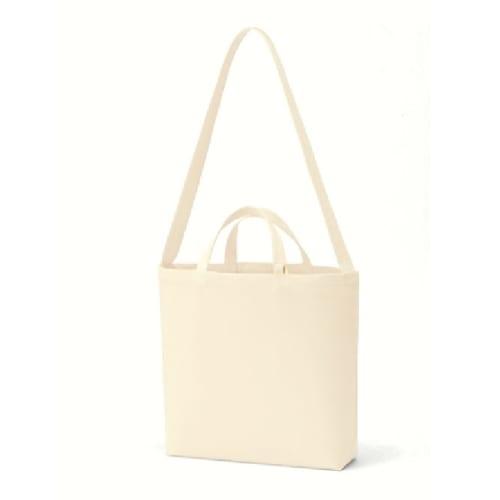 キャンバスWスタイルバッグ インナーポケット付:ナチュラル