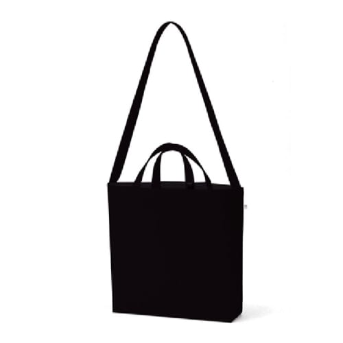 キャンバスWスタイルバッグ インナーポケット付:ナイトブラック