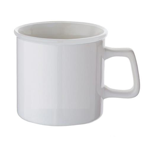 陶器マグストレート ラウンドリップ:ホワイト×ホワイト