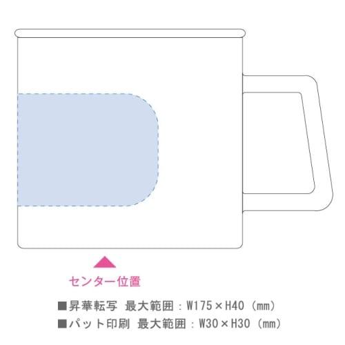 陶器マグストレート ラウンドリップ:ホワイト×レッドの商品画像3枚目