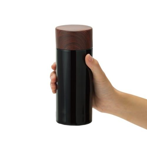 木目調サーモステンレスボトル 300ml:シルバーの商品画像4枚目