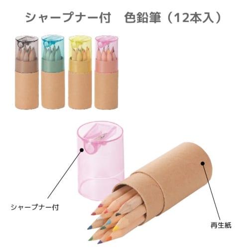 シャープナー付色鉛筆(12本入):19A3776