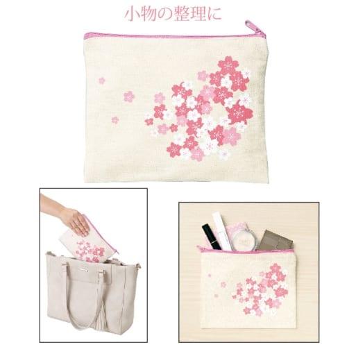 桜ファスナーポーチ:20B3772 【さくら】【名入れ短納期可能】