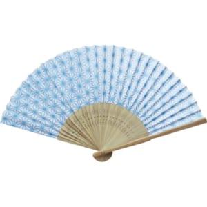 日本の伝統柄扇子 すす竹 麻の葉扇子│A76-2D9737