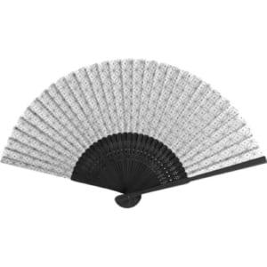 七宝黒竹扇子-白|A76-2D9746