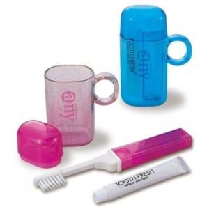 エニイ・セット (携帯歯ブラシセット) 【1色印刷代サービス】|A38-1-05019-13