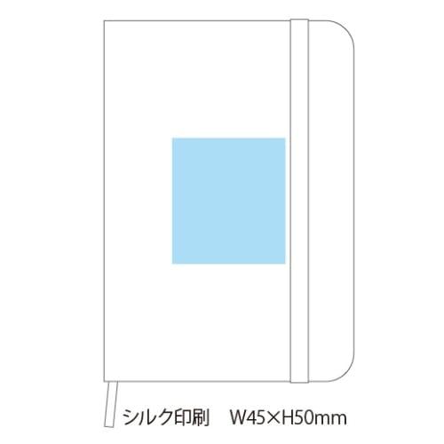 ファブリックノートブック(ブルー)◆の商品画像3枚目