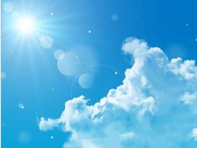 照りつける太陽