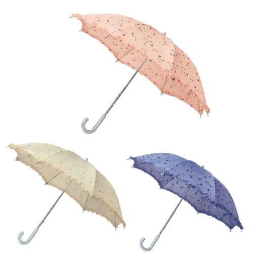 タイニーフラワースライド式晴雨兼用長傘の商品画像3枚目
