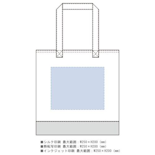 キャンバスカラーボトムフラットトート:ナイトブラックの商品画像3枚目