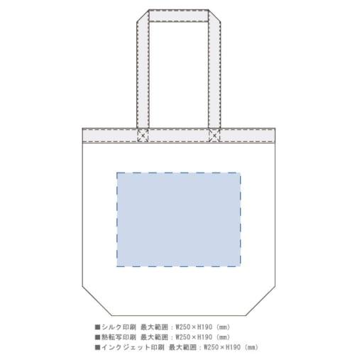 キャンバストップカラーベルトライントート:スカイグレーの商品画像3枚目