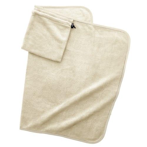 くるっと巾着収納ブランケット:アイボリー