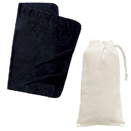 ロール巾着ブランケット:ブラック