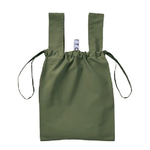 クルリト デイリー巾着バッグ:カーキ|A14-TR-1038-025