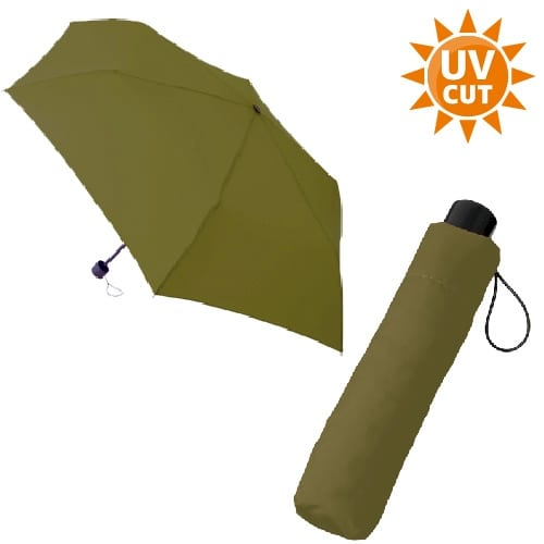 スタンダードUV折りたたみ傘:カーキベージュ