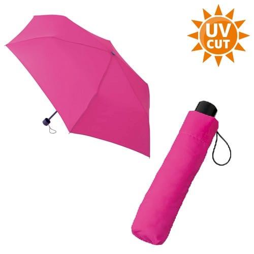 スタンダードUV折りたたみ傘:ピンク